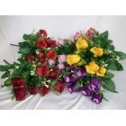 Bukiet róż x 10 z dodatkami